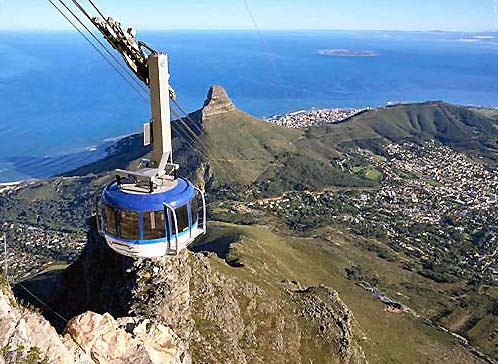 Aerial Cableway System Table Mountain Aerial Cableway
